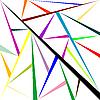 Векторный клипарт: геометрическая сетка из треугольников