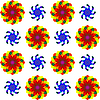 geometric seamless flowers pattern 2