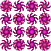 geometric seamless flowers pattern