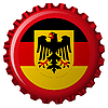 german popular flag over bottle cap