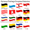Wavy germany civil flags collection against white | Stock Vector Graphics