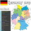 Vector clipart: germany map and lands