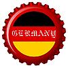 germany stylized flag on bottle cap