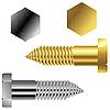 Векторный клипарт: золотые и серебряные винты