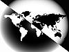 Векторный клипарт: карта мира негатив