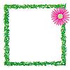 Векторный клипарт: рамка трава и цветок