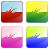 Vector clipart: grass web buttons