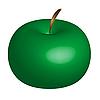 Векторный клипарт: зеленое яблоко