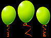 Vector clipart: green balloons against black