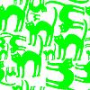 Vector clipart: green cats pattern