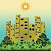 Векторный клипарт: зеленый город