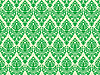 Vector clipart: green damask seamless texture