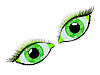 Vector clipart: green eyes