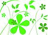 Векторный клипарт: простые цветочные узоры