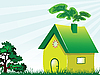 Vector clipart: green house