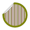 green metallic stripes sticker isolated on white
