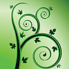 Vector clipart: green plant design