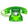 Векторный клипарт: Зеленый телефон ретро
