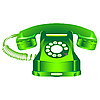 ID 3003921 | Grünes retro Telefon | Stock Vektorgrafik | CLIPARTO