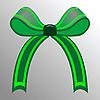Векторный клипарт: зеленый бант