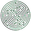 Green round maze against white | Stock Vector Graphics