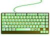 Векторный клипарт: зеленая блестящая клавиатура