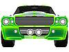 Векторный клипарт: зеленый винтажный спортивный автомобиль