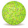 Векторный клипарт: зеленый мяч
