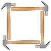 Vector clipart: hammer photo frame