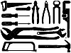 hand tools silhouettes