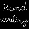 Vector clipart: hand writing