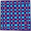 Векторный клипарт: синий платок