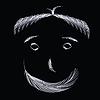 Векторный клипарт: лицо из перьев