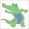 Векторный клипарт: Крокодил