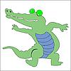 Happy green crocodile | Stock Vector Graphics