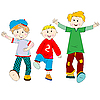 Vector clipart: happy kids cartoon