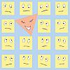 Векторный клипарт: счастливый треугольный смайлики грустные квадратики