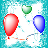 Vector clipart: happy valentine balloons