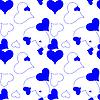 Векторный клипарт: синий фон из сердечек