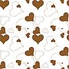 Векторный клипарт: коричневый фон из сердечек