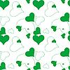 Векторный клипарт: зеленый фон из сердечек
