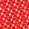Векторный клипарт: красный фон из сердечек