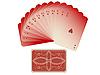 Векторный клипарт: игральные карты сложенные веером