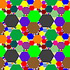 Vector clipart: hexagon seamless pattern extended