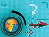 Векторный клипарт: абстрактная композиция с картой мира