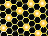Векторный клипарт: медовые пчелиные соты