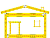 Vector clipart: house made of measuring tape