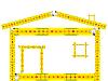 Векторный клипарт: дом из сантиметров