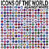 Векторный клипарт: значки с флагами стран мира