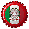 Vector clipart: italy abstract flag on bottle cap